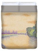 The Banks Of The Marne At Dawn 1888 Duvet Cover