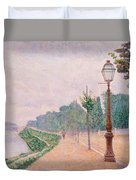 The Banks Of The Seine At Neuilly 1886 Duvet Cover
