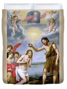 The Baptism Of Christ Duvet Cover by Ottavio Vannini