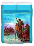 The Baptism Of Jesus Duvet Cover