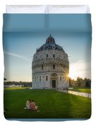 The Baptistery, Piazza Dei Miracoli Duvet Cover