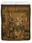 The Barber Duvet Cover