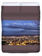 The Barcelona City Skyline, Spain Duvet Cover