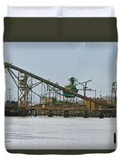 The Barge Waits At Aberdeen Duvet Cover