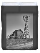 The Barn And Windmill Duvet Cover
