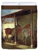 The Barn Of Marechal-ferrant Duvet Cover