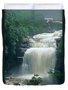 The Base Of Angel Falls In Canaima National Park Venezuela Duvet Cover