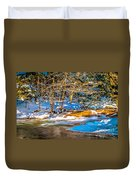 The Basin At Franconia Notch Duvet Cover