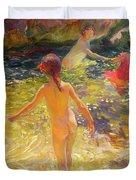 The Bath - Javea Duvet Cover