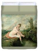 The Bath Of Diana Duvet Cover