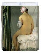 The Bather Duvet Cover by Jean Auguste Dominique Ingres