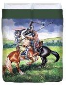 The Battle Of Bannockburn Duvet Cover