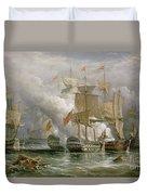 The Battle Of Cape St Vincent Duvet Cover