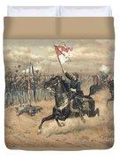 The Battle Of Cedar Creek Virginia Duvet Cover by Thure de Thulstrup