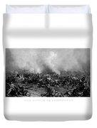 The Battle Of Gettysburg Duvet Cover
