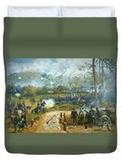 The Battle Of Kenesaw Mountain Duvet Cover by American School