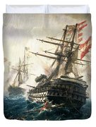 The Battle Of Lissa Duvet Cover by Constantin Volonakis