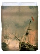 The Battle Of Navarino Duvet Cover by Ivan Konstantinovich Aivazovsky