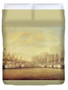The Battle Of Negapatam Duvet Cover by Dominic Serres