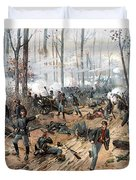 The Battle Of Shiloh Duvet Cover