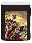 The Battle Of Waterloo Duvet Cover