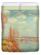 The Bay And The River Duvet Cover by Jean Baptiste Armand Guillaumin