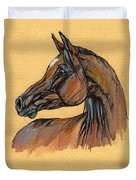 The Bay Arabian Horse 10 Duvet Cover