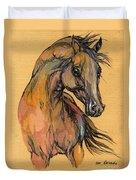 The Bay Arabian Horse 9 Duvet Cover