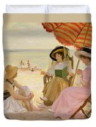 The Beach Duvet Cover by Alfred Victor Fournier