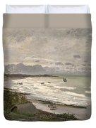 The Beach At Sainte Adresse Duvet Cover by Claude Monet