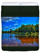 The Beach At Singing Waters Campground Duvet Cover