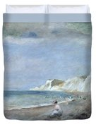 The Beach At Varangeville Duvet Cover