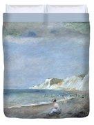 The Beach At Varangeville Duvet Cover by Renoir