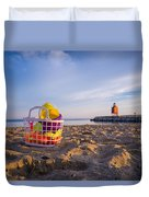 The Beach Is Calling Duvet Cover