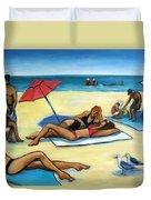 The Beach Duvet Cover by Valerie Vescovi