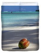 The Beaches Of Rarotonga Duvet Cover