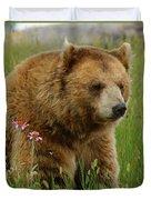 The Bear 1 Dry Brushed Duvet Cover