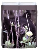 The Bearcub And The Dandelion Duvet Cover