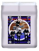 The Beatles - Live On The Ed Sullivan Show Duvet Cover