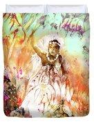 The Beautiful Black Bride Duvet Cover