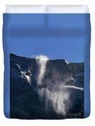 The Beautiful Bridalveil Falls Of Yosemite Duvet Cover