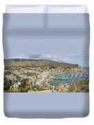 The Beautiful Catalina Island Duvet Cover