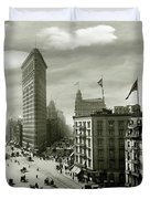 The Beautiful Flatiron Building Circa 1902 Duvet Cover