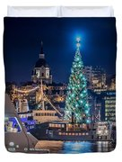 The Beautiful, Freshly Renovated Katarina Church And The Gigantic Christmas Tree In Stockholm Duvet Cover