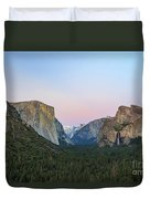 The Beautiful Tunnel View Of Yosemite Duvet Cover