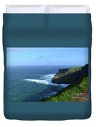 The Beauty Of Ireland's Cliff's Of Moher And Galway Bay  Duvet Cover