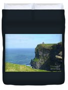 The Beauty Of Ire'land's Cliff's Of Moher In County Clare Duvet Cover