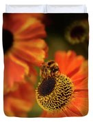 The Bee And The Helenium Duvet Cover