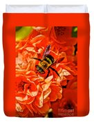 The Bee And The Flower Duvet Cover