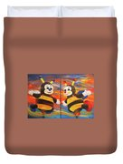 The Bees, Joey And Lilly Duvet Cover